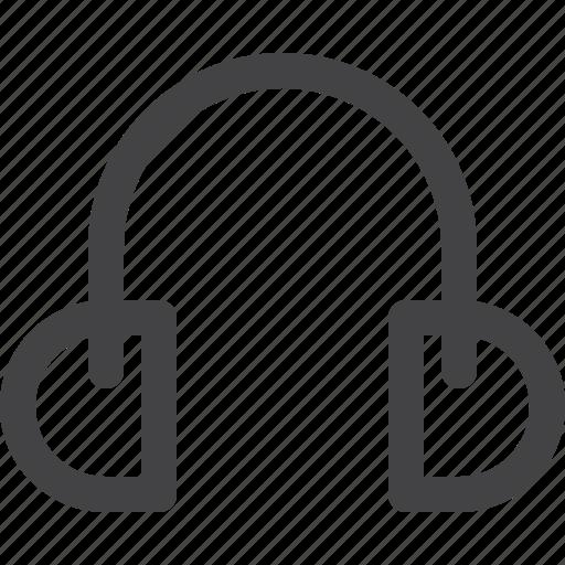 headphone, multimedia, music, sound, ui icon