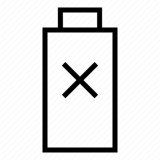 battery, interface, low, no battery, user icon