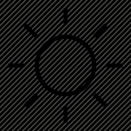 day, interface, sun, user icon