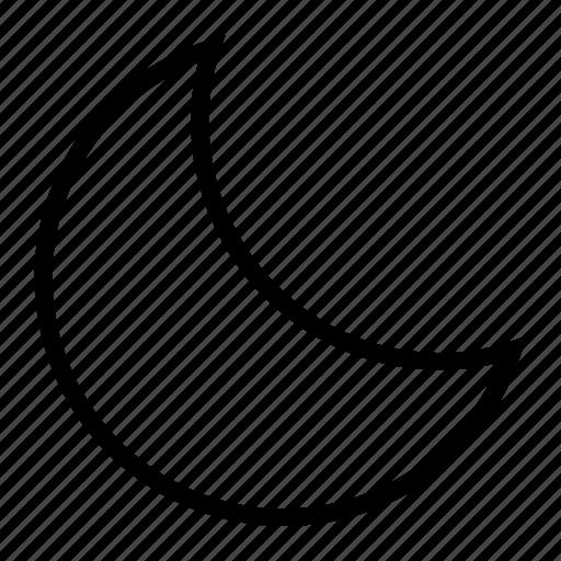 interface, moon, night, user icon