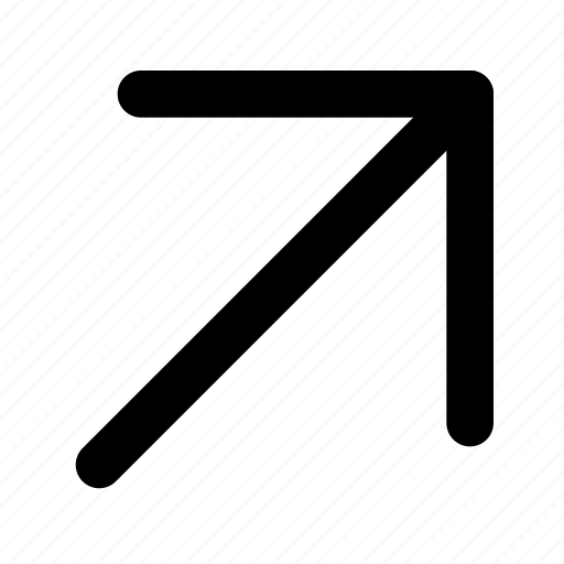 arrow, chevron, navigation, open, right, up icon