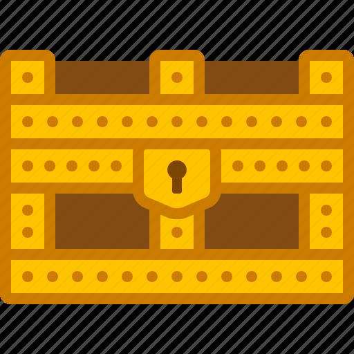 box, chest, coffer, gold, golden, storage, treasure icon