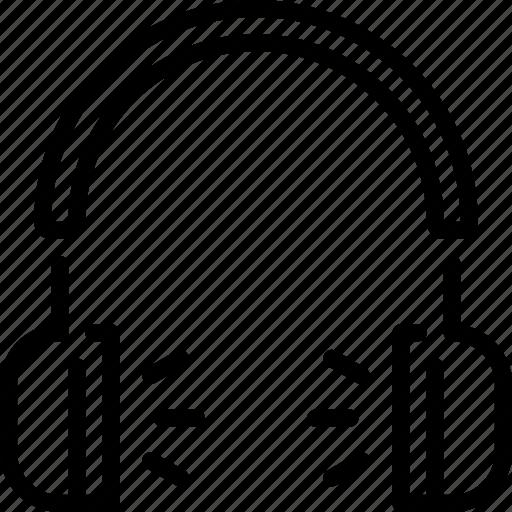 audio, headphones, listen, music, play, song icon