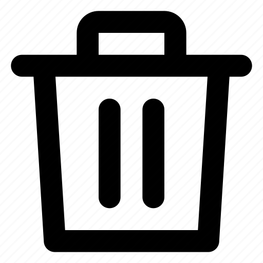 delete, trash, trash can icon