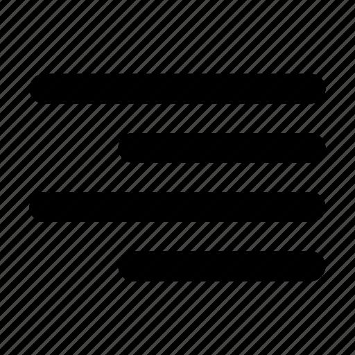 align, align right, alignment, right, text icon