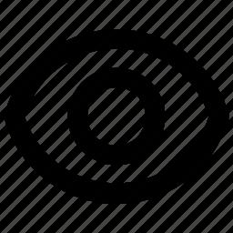 eye, eyeball, see, show, visible icon