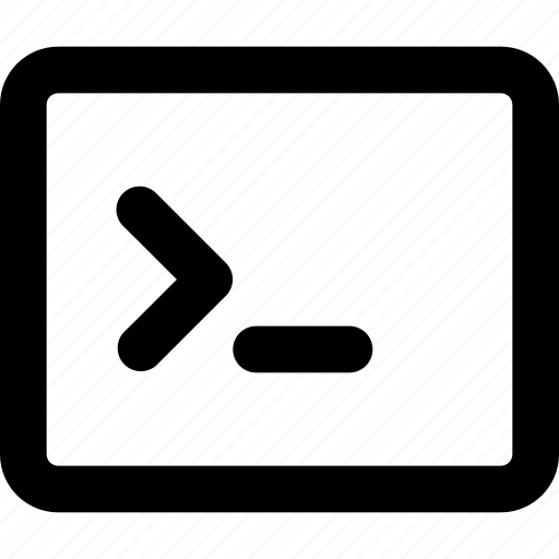 code, run, terminal icon