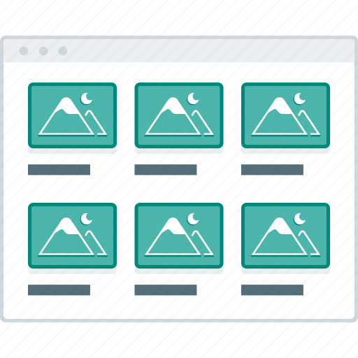 blog, grid, layout, page, website, wireframe, workflow icon