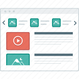 blog, home, layout, page, website, wireframe, workflow icon