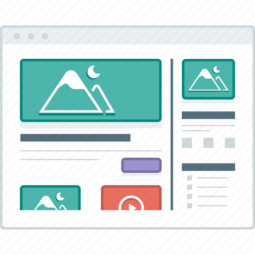 Blog, home, layout, page, website, wireframe, workflow icon - Download on Iconfinder