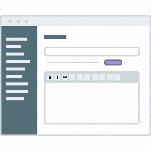 cms, edit, form, layout, page, website, wireframe icon