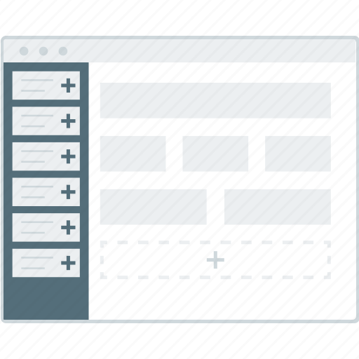 cms, custom, design, layout, page, website, wireframe icon