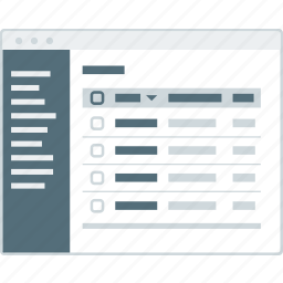 cms, layout, page, table, website, wireframe, workflow icon