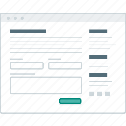 contact, form, layout, page, website, wireframe, workflow icon