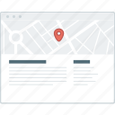 contact, layout, location, map, page, website, wireframe