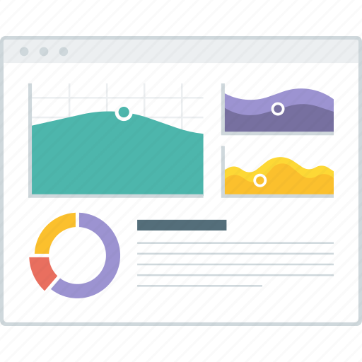 chart, dashboard, layout, page, statistic, website, wireframe icon