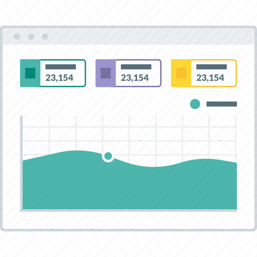 chart, dashboard, graph, layout, page, website, wireframe icon