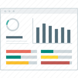 dashboard, graph, layout, page, statistic, website, wireframe icon