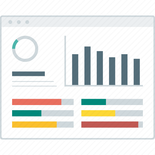 Dashboard, graph, layout, page, statistic, website, wireframe icon - Download on Iconfinder
