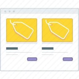 column, ecommerce, layout, page, product, website, wireframe icon