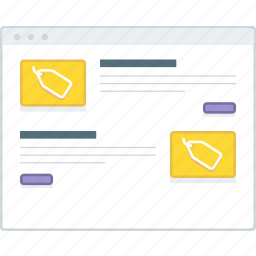 ecommerce, layout, list, page, product, website, wireframe icon