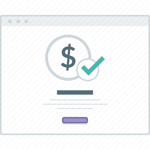 ecommerce, layout, page, payment, success, website, wireframe icon