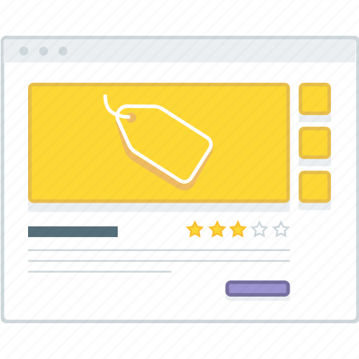details, ecommerce, layout, page, product, website, wireframe icon