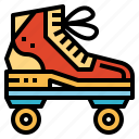 roller, shoe, skate, sports icon
