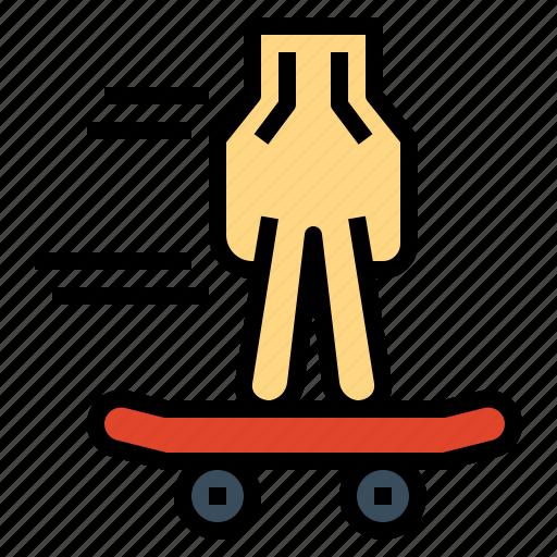 fingerboard, skateboard, sportive, toy icon