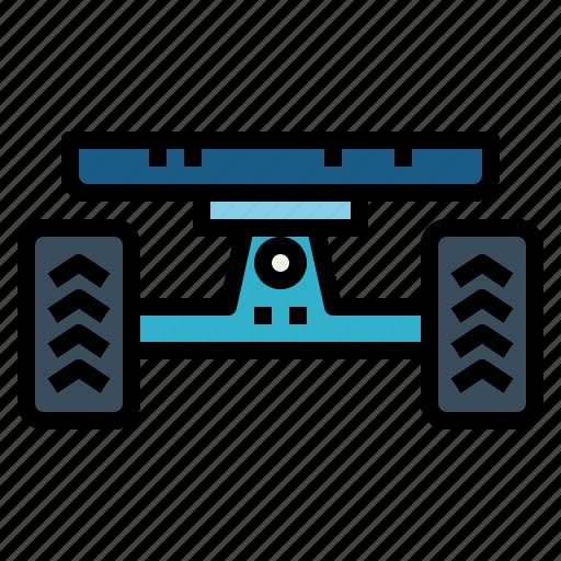 skateboard, sports, tire, wheel icon