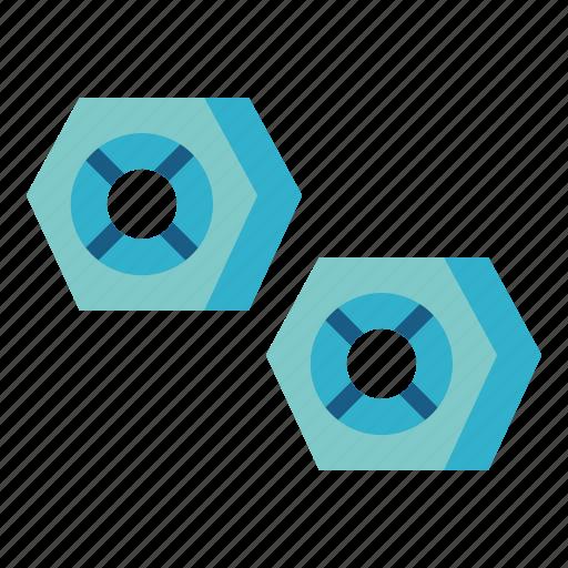 hexagonal, industry, nut, tools icon