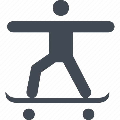 board, bounce, skate, skateboard, skateboarding, sport icon