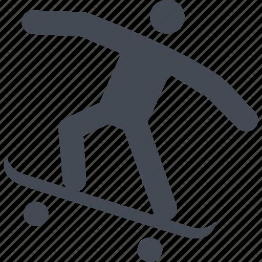 board, incline, skate, skateboard, skateboarding, sport icon