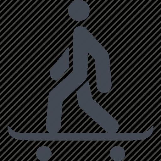 board, skate, skateboard, skateboarding, sport, step icon