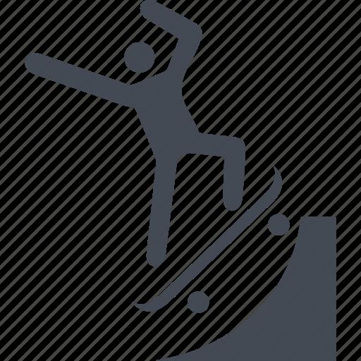 board, skate, skateboarding, sport, up icon