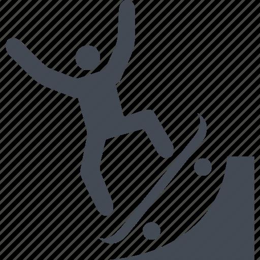 board, down, skate, skateboarding, sport, up icon