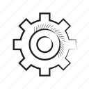 cog, gear, setting, system icon