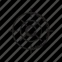 crosshair, dart, focus, goal, target