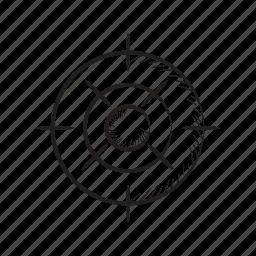 crosshair, dart, focus, goal, target icon