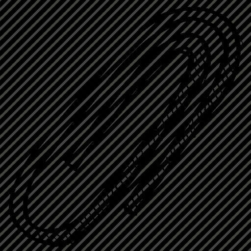 attach, attachment, clip, extension, file, paperclip icon