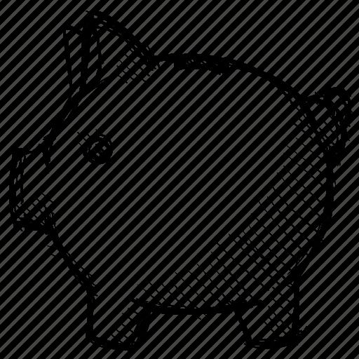 bank, cash, fees, finance, money, pig, piggybank icon