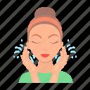 body, care, cosmetics, cream, mask, person, skin icon