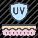 care, layer, protection, skin, skincare, ultraviolet, uv icon