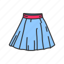 clothing, garment, gored skirt, plated skirt, short skirt, skirt icon