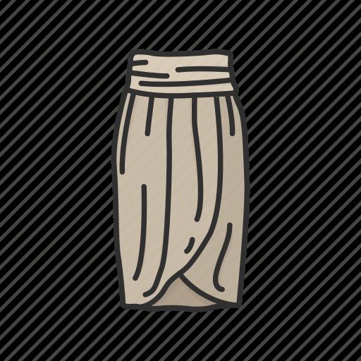 clothing, dress, fashion, garment, skirt, tulip dress, wraparound skirt icon