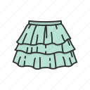 clothing, fashion, garment, plated skirt, rah-rah skirt, short skirt, skirt icon