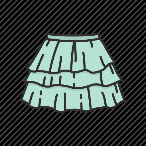 clothing, fashion, garment, plated skirt, rah-rah skirt, short skirt, skirt icon