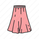 a-line skirt, clothing, dress, fashion, full skirt, garment, skirt icon