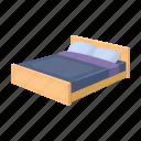 bed, blanket, comfort, pillow, rest, sleep icon