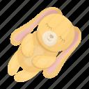animal, comfort, rabbit, rest, toy icon